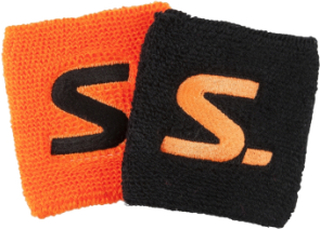 Salming Wristband Short 2-pack Black/Magma Red