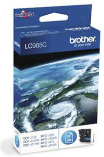 Brother LC 985 C blækpatron - LC985C Original - Cyan 5,2 ml