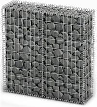 vidaXL Gabionkorg med lock galvaniserad tråd 100 x 100 x 30 cm