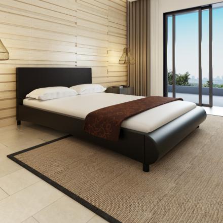 vidaXL Säng 140 x 200 cm konstläder svart