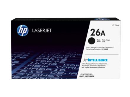 HP CF226A BK (HP 26A) Lasertoner, sort, Original, 3100 sider