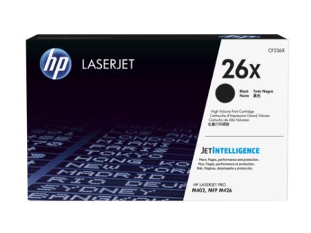 HP CF226X BK (HP 26X) Lasertoner, sort, Original, 9000 sider