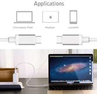 USB-C kabel til USB-C 1m i hvid