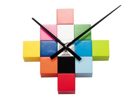 Karlsson - Diy Cubic Multi Color - Veggklokke
