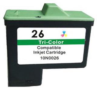 Lexmark 26 (10N0026) 3-farve kompatibel blækpatron (10 ml)