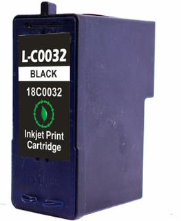 Lexmark 32BK sort, kompatibel blækpatron (18 ml)