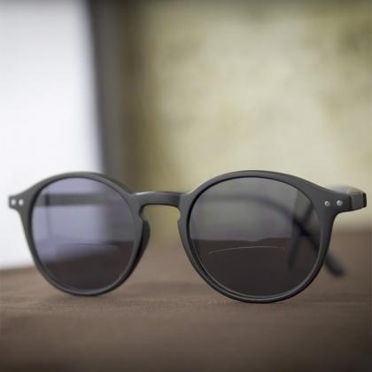 Sol- och läsglasögon, Svart +2.5