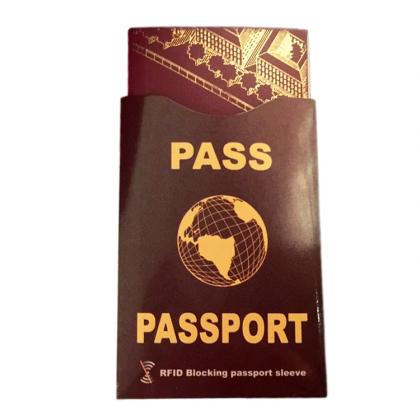 Passficka med RFID-skydd, Röd