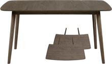 Carlos - Spisebord røget eg - Længde 180/280 cm m. tillægsplader