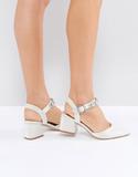 ASOS SHOWGIRL Bridal Embellished Heels - Cream