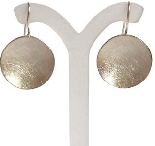 Örhängen, silver 925 Silver Örhängen skal Matt örhängen skal skiva