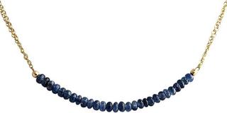 Safir Sapphire halskjede Sapphire halskjede gull belagt halskjede 4...