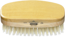 Kent Brushes Mens Rectangular Satin/Bokträ borste med ljus svinborst