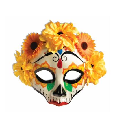 Dag af de døde gule Senorita blomster mexicanske kraniet kvinder ko... - Fruugo