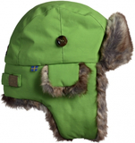 SQUIRREL WINTER CAP WITH FAKE FUR GREEN stl 44-46