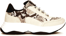 Duffy Chunky Sneakers, beige snake