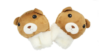 Childrens nyhet brunbjørn myk ullen dyr vanter