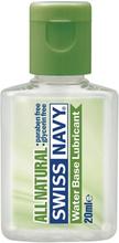 Swiss Navy All Natural: Vattenbaserat Glidmedel, 20 ml