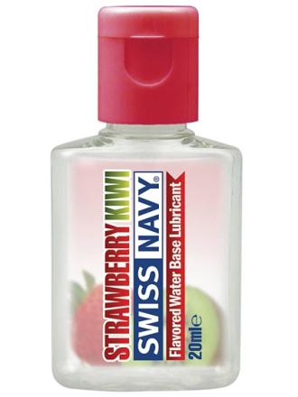Swiss Navy Jordgubb/Kiwi: Smaksatt Glidmedel, 20 ml
