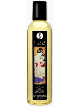 Shunga Massageolja: Aphrodisia Rosor, 250 ml