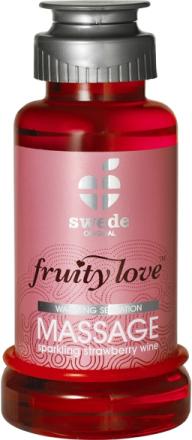 Swede Fruity Love: Värmande Massageolja Jordgubb, 100 ml
