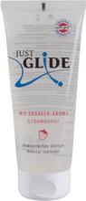 Just Glide Jordgubb: Smaksatt Glidmedel, 200 ml