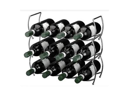 3-delars stapelbar vin rack