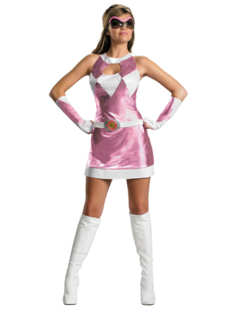 Disguise Frække Pink Ranger Deluxe Mighty Morphin Power Rangers sup... - Fruugo