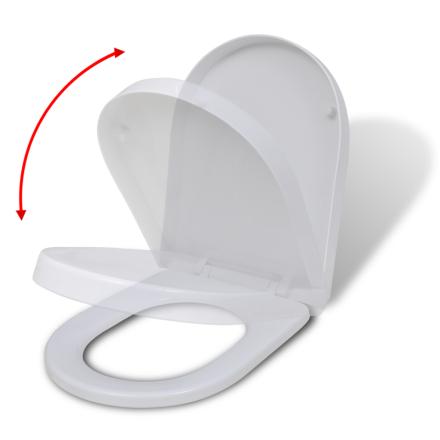 vidaXL Valkoinen Soft Close WC-istuin Neliö
