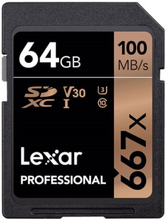 64 GB LexarProfessional 667x UHS-I V30 100MB/s SDXC