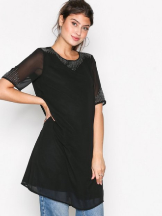 Only onlKAJA S/L Bead Dress Wvn