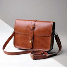 Casual Shoulder Bag simple design Ladies Cross Body Bag Vintage Purse Bag Leather Cross Body Shoulder Messenger Bag #YL10