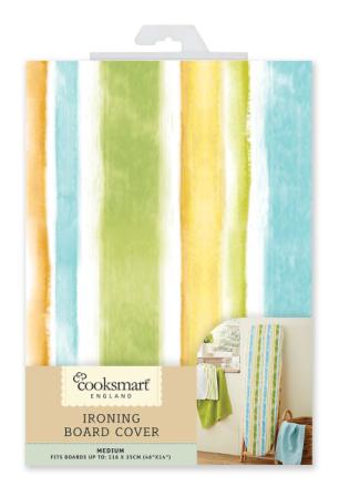 Cooksmart Medium 116 x 35cm strykebrettet dekselet, Multi Stripe