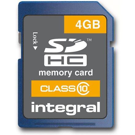 Integral Integrert 4Gb SDHC høyhastighets klasse 10 kort