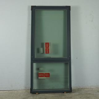 Topstyret vindue med Fast Vindue, Træ/alu, 012398