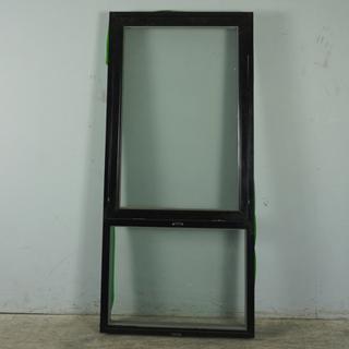 Topstyret vindue med Fast Vindue, Træ/alu, 012415