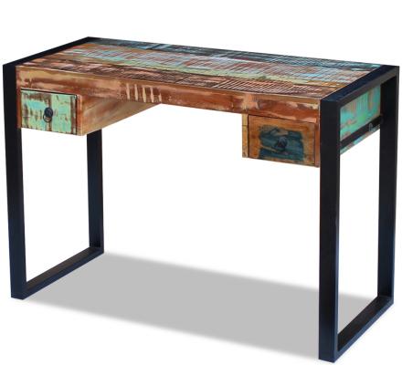 vidaXL Skrivbord massivt återvunnet trä