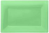 Kiwigröna serveringsfat i plast - 3 st