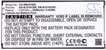 Ersättningbatteri Galaxy J5 2016 mfl kompatibelt med Samsung