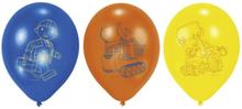 Byggare bob ballonger - 23 cm latex - 6 st