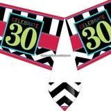 Bordsduk 30-års födelsedag i plast - 137 cm x 259c