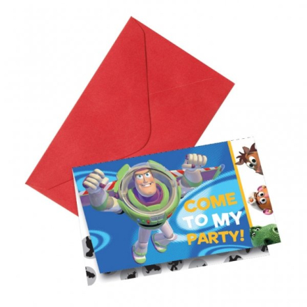 Toy story Buzz Lightyear inbjudningskort - 6 st