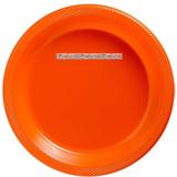 Orange desserttallrikar i plast 17 cm - 20 st