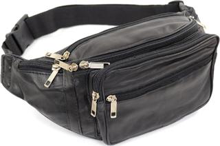 Unisex mjuk Nappa läder luffare väska / midja väska / pengar väska