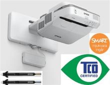 Epson EB-695Wi - LCD, 3500 ANSI, 28dB (Eco), 5,9kg, 1xVGA, 3xHDMI, 2xPen & Finger, inkl. väggfäste