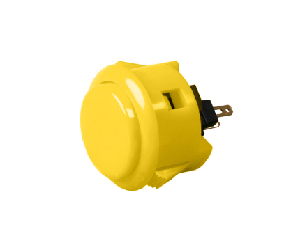OBSF-30 Snap-In Arcade Button - Yellow