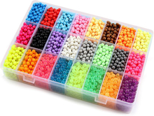 5200pcs 24 colors beads puzzle Crystal color DIY beads water spray set ball games 3D handmade magic toys for children