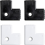 YourLED 90°- hörnanslutning 4-pack vit, svart, pla