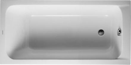 Duravit D-Code Komplet Badekar m/Rygglene, t/Innbygning 150x75 cm (avløp i fotenden)