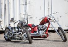 Två häftiga Harley Davidson